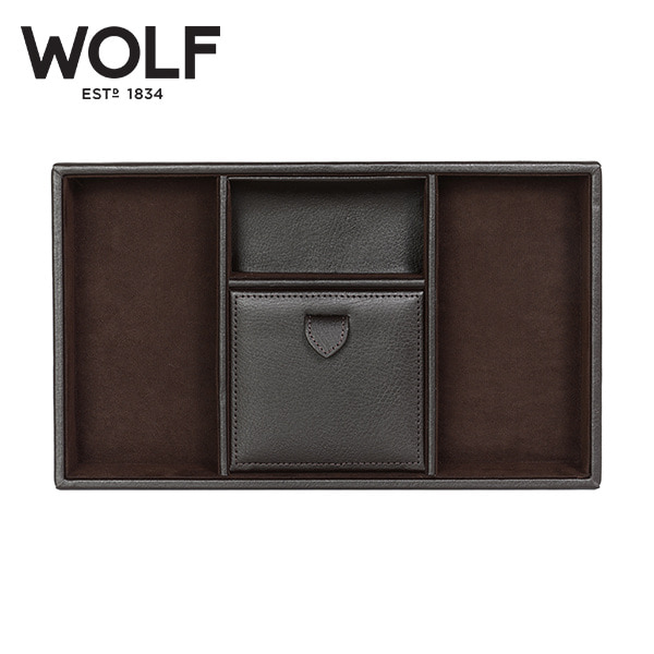 [울프 WOLF] 305106 (Blake Valet tray BROWN PEBBLE) / 보석함 Jewelry Box 타임메카