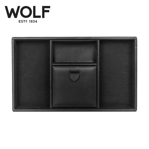 [울프 WOLF] 305102 (Blake Valet tray BLACK PEBBLE) / 보석함 Jewelry Box 타임메카