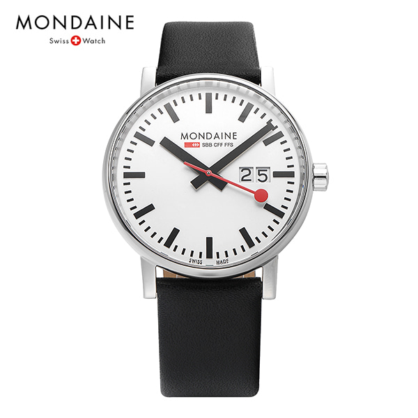 [몬데인시계 MONDAINE] MSE.40210.LB / Swiss Railways Evo2 40mm 타임메카