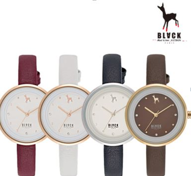 [블랙마틴싯봉 BLACKMARTINE] BKL1645L-GAWD202 / Simple round watches 여성용
